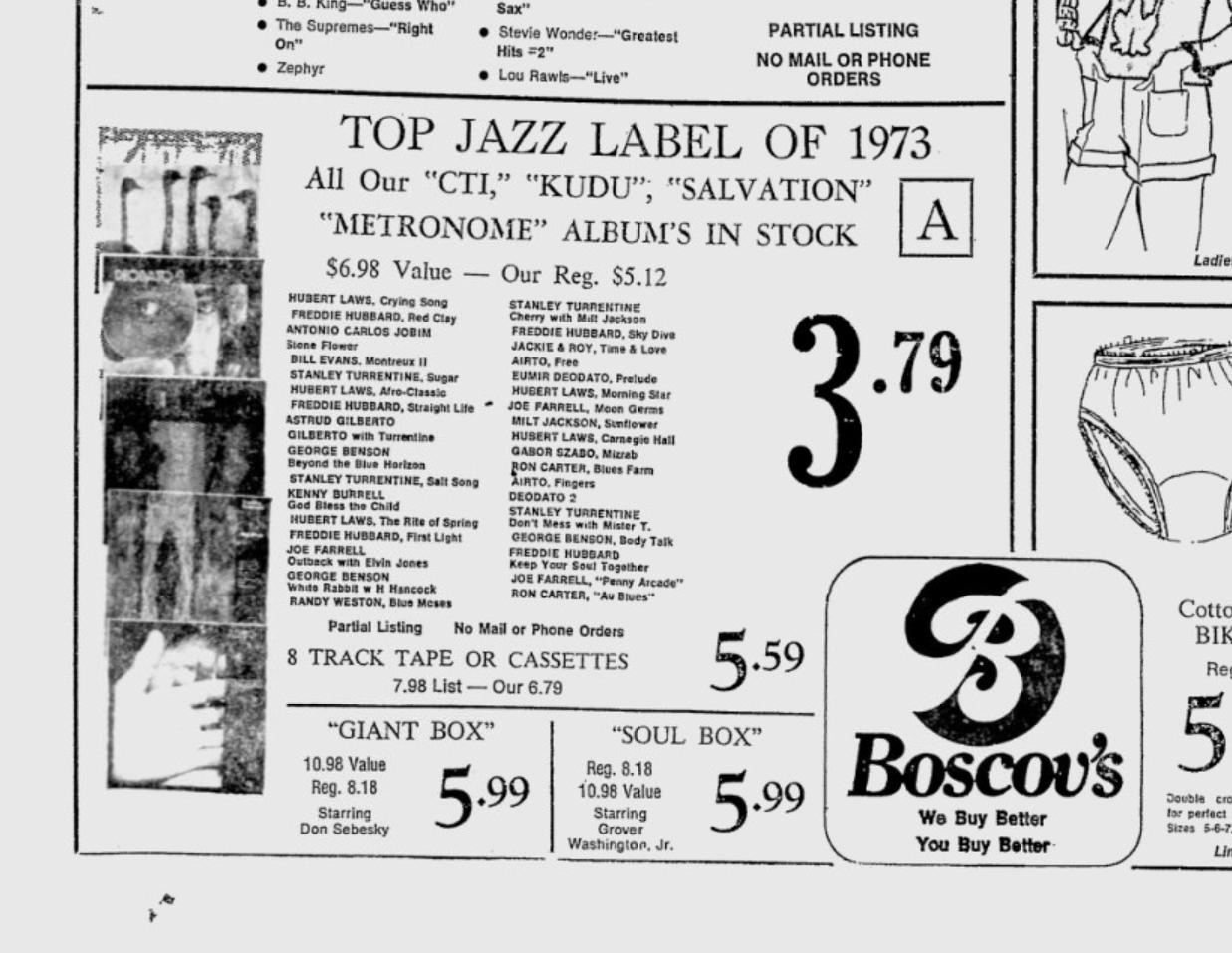 News paper advertisement for Boscovs