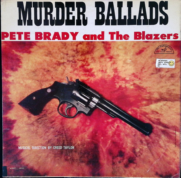 Album cover for Pete Brady Murder Ballads